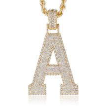 10k Yellow Gold Custom Diamond 'A' Pendant