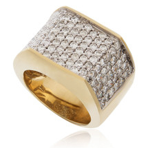 10k Yellow Gold 3.40ct Diamond Ring