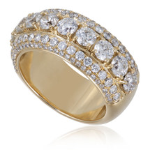 14K Yellow Gold 4.45ct Diamond Band