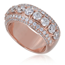 14K Rose Gold 4.38ct Diamond Band