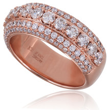 14K Rose Gold 2.69ct Diamond Band