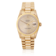 Rolex Lady-DateJust 18k Yellow Gold President Dial Automatic Women's Watch