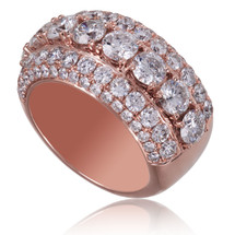 14K Rose Gold 6.78ct Diamond Ring