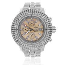 Breitling 1884 Chronometre Automatic Stainless Steel 7.5ct Diamond Watch