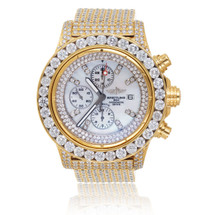 Breitling 1884 Chronometre Automatic Stainless Steel Gold Plated 15ct Diamond Watch