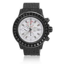 Breitling 1884 Chronometre Certifie Automatic Stainless Steel 17ct Black Diamond Watch