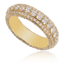 14K Yellow Gold 3.15ct Diamond Band