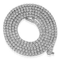 14k White Gold 17.6ct Diamond Tennis Chain
