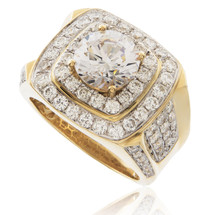 10k Yellow Gold 2.53ct Diamond Ring with White Sapphire