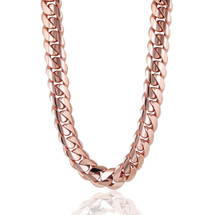 14k Rose Gold 31mm Kilo Cuban Link Chain 31in