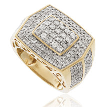 10k Yellow Gold 2.32ct Men's Diamond Ring