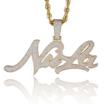 "10k Yellow Gold Custom Diamond 'NuLa"" Pendant"