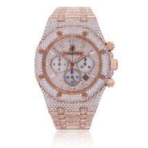 Audemars Piguet Royal Oak 18k Rose Gold 26ct Diamond Watch
