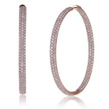 18K Rose Gold 12.91ct Diamond Hoops