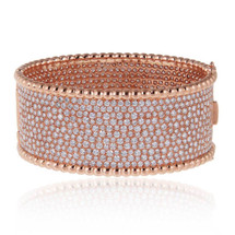 18k Rose Gold 22.45ct Diamond Cuff Bracelet