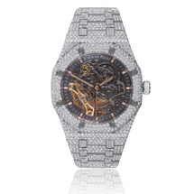 Audemars Piguet Skeleton Dial Royal Oak 28ct Diamond Watch