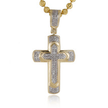 10k Yellow Gold .13ct Diamond Cross Pendant