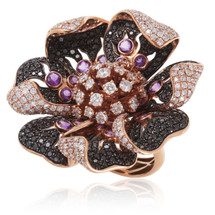 18k Rose Gold 11.34ct Diamond Ring