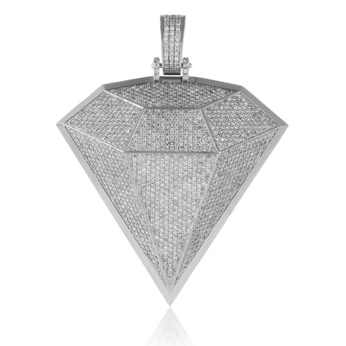 10k white gold custom diamond pendant shyne jewelers custom diamond pendant image 1 aloadofball Images