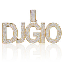 "14k Yellow Gold Custom Diamond ""DJGIO"" Pendant"