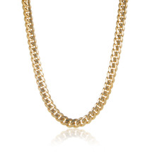 14k Yellow Gold 13mm Cuban Link Chain 28 in