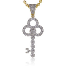 10k Yellow Gold .45ct Diamond Key Pendant