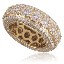 14K Yellow Gold 4.00ct Diamond Band