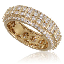 14K Yellow Gold 3.00ct Diamond Band