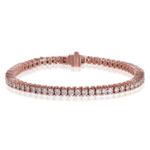 14K Rose Gold 7.68ct Tennis Braclet