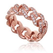 10k Rose Gold .85ct Diamond Cuban Ring