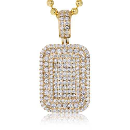 14k yellow gold 275ct diamond dog tag pendant shyne jewelers diamond dog tag pendant image 1 mozeypictures Images