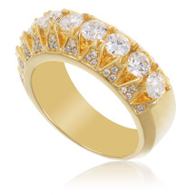 10k Yellow Gold Men's  2.63ct Diamond Ring