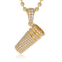 10k Yellow Gold 1.35ct Diamond Cup Pendant