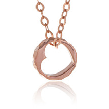 14K Rose Gold Heart Ring Necklace