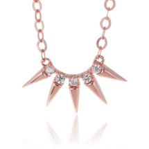 14K Rose Gold Diamond Design Necklace