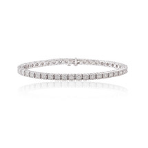 14k White Gold 3.32ct Diamond Tennis Bracelet