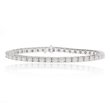 14k White Gold Diamond Tennis Bracelet 3.38ct