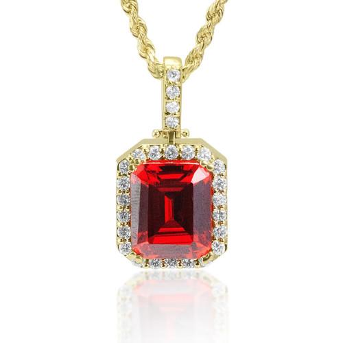 14k yellow gold 1ct diamond ruby micro pendant shyne jewelers diamond ruby micro pendant image 1 aloadofball Images