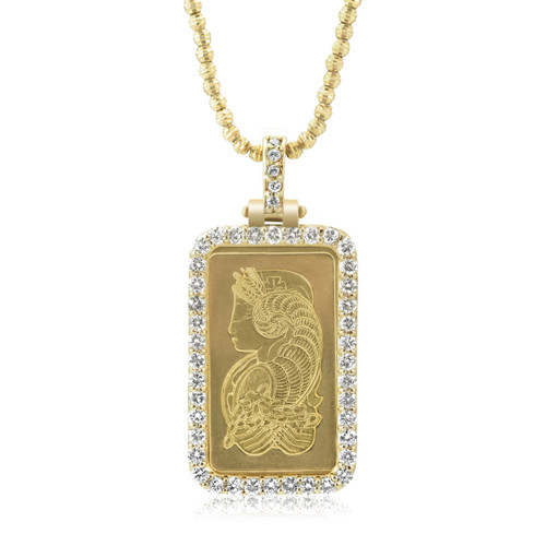 other flying diamond pendant bentley inch symbol charm yellow b gold genuine i