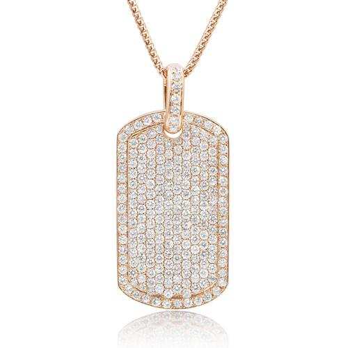 14k rose gold 55ct diamond dog tag pendant shyne jewelers gold 55ct diamond dog tag pendant image 1 aloadofball Choice Image