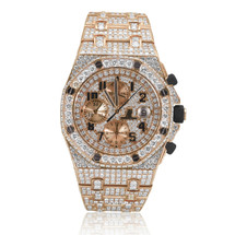 Audemars Piguet 18k Rose Gold 32ct Diamond Watch