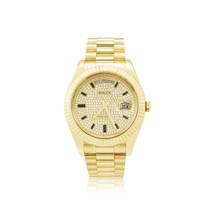 Rolex Day-Date II 18k Yellow Gold 2.75ct Diamond Watch
