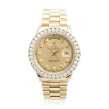 Rolex Day-Date 18k Yellow Gold 4.5ct Diamond Watch