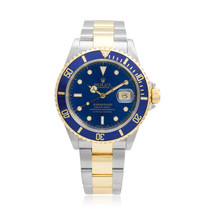 Rolex Submariner Blue Dial Stainless Steel 18K Gold Two-Tone Automatic Men's Watch 16613 Front