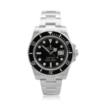Rolex Black Dial Submariner Stainless Steel Watch