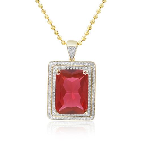 10k yellow gold 80ct diamond ruby pendant shyne jewelers diamond ruby pendant image 1 aloadofball Images