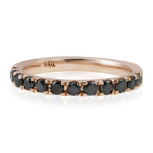 14k Rose Gold 1ct Black Diamond Ring