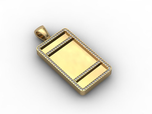 Design it yourself custom diamond tag pendant shyne jewelers home mens jewelry design it yourself custom diamond tag pendant image 1 solutioingenieria Image collections