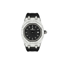 Audemars Piguet Royal Oak Stainless Steel 6.5ct Diamond Watch Front