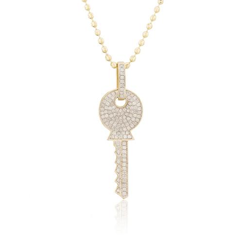 10k yellow gold 65ct diamond key pendant shyne jewelers diamond key pendant image 1 mozeypictures Image collections